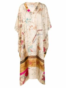 Pierre-Louis Mascia floral scene tunic dress - Neutrals