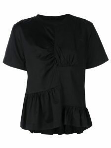 Marques'Almeida ruched front T-shirt - Black