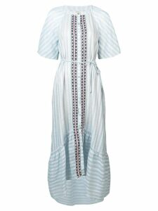 Lemlem Nefasi flared shirt dress - Blue