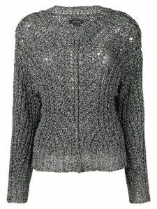 Isabel Marant metallic detail sweater - Silver
