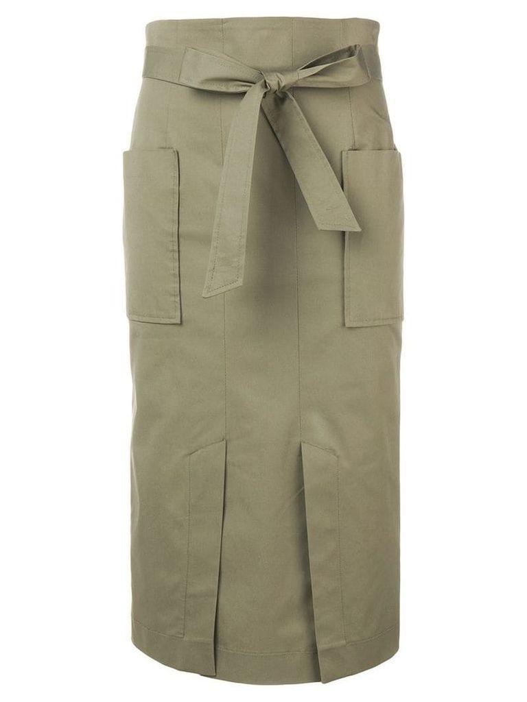 Blugirl belted straight skirt - Green