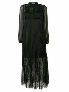 McQ Alexander McQueen lace panel pleated dress - Black