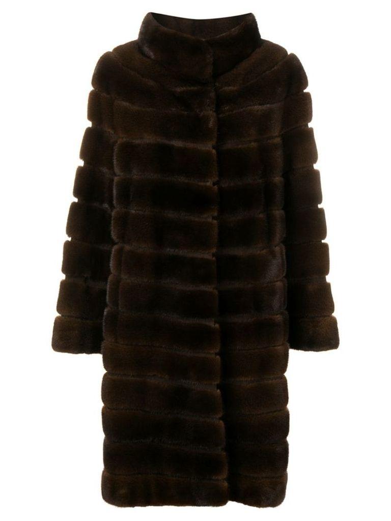 Liska Zek fur coat - Brown