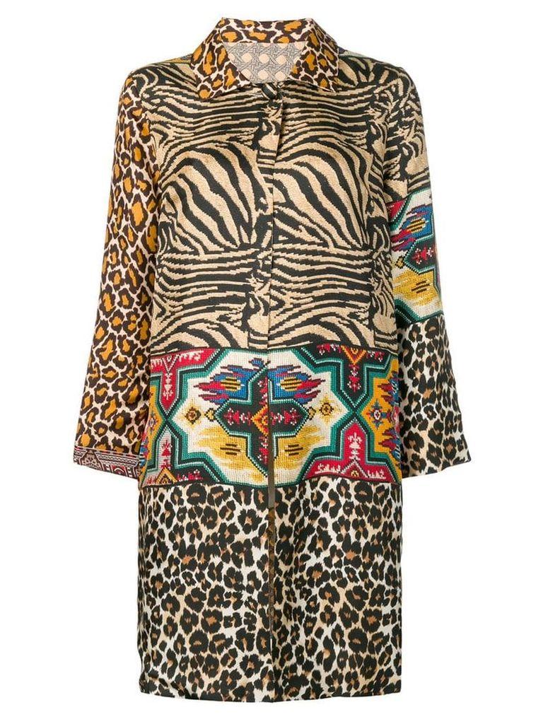 Pierre-Louis Mascia animal pattern coat - Neutrals
