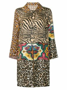 Pierre-Louis Mascia animal pattern coat - Neutrals