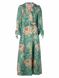 Gucci Loraine floral print coat - Green