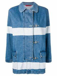 Fay striped denim duffle jacket - Blue