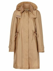 Burberry Detachable Hood Taffeta Parka - Neutrals