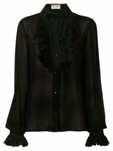 Saint Laurent frill detail shirt - Black
