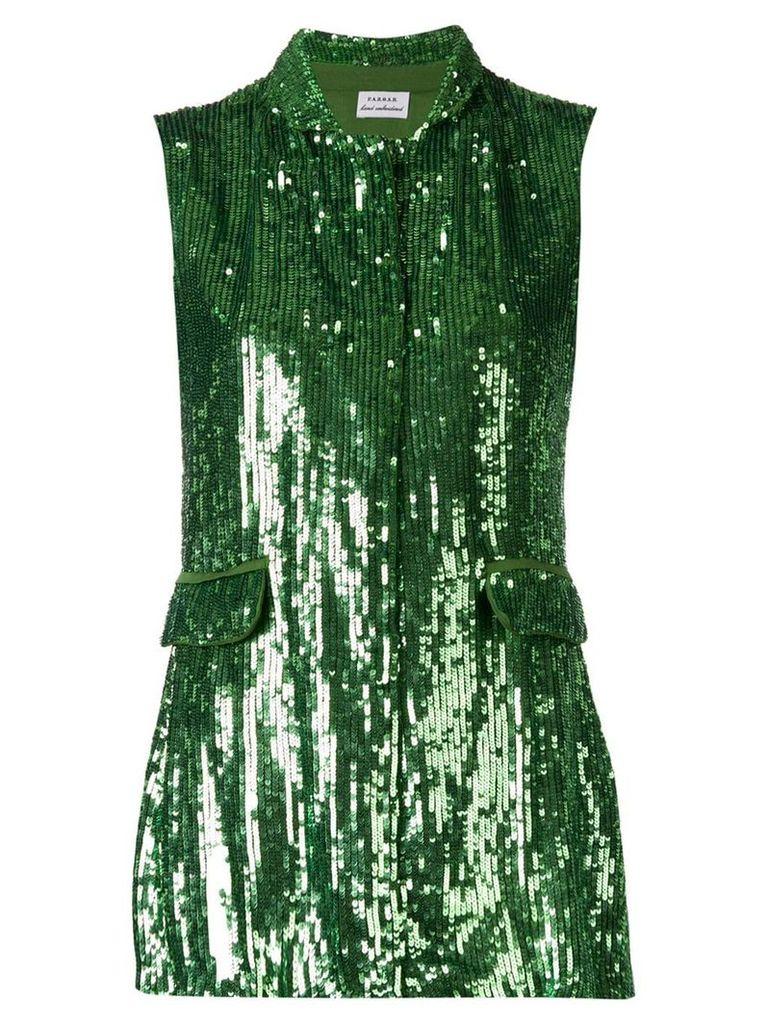 P.A.R.O.S.H. embellished draped waistcoat - Green