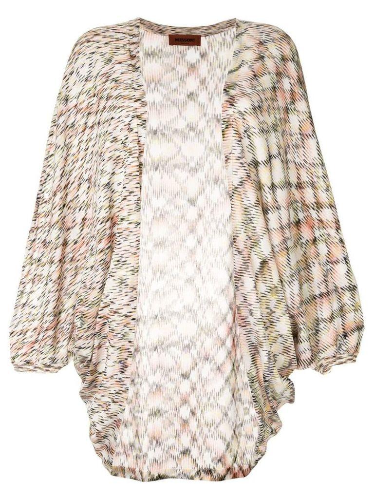 Missoni long open front cardigan - Multicolour