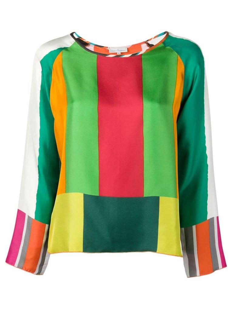 Pierre-Louis Mascia stripe pattern blouse - Green