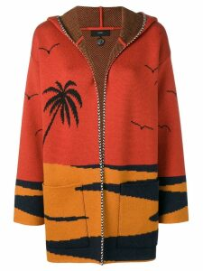 Alanui Beach printed cardigan - Orange