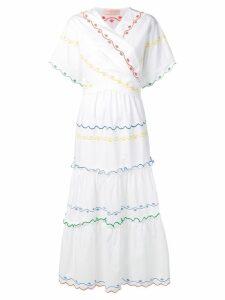 Tory Burch embroidered poplin dress - White