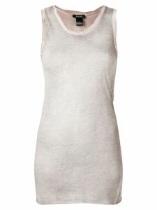 Avant Toi round-neck cotton tank top - Neutrals