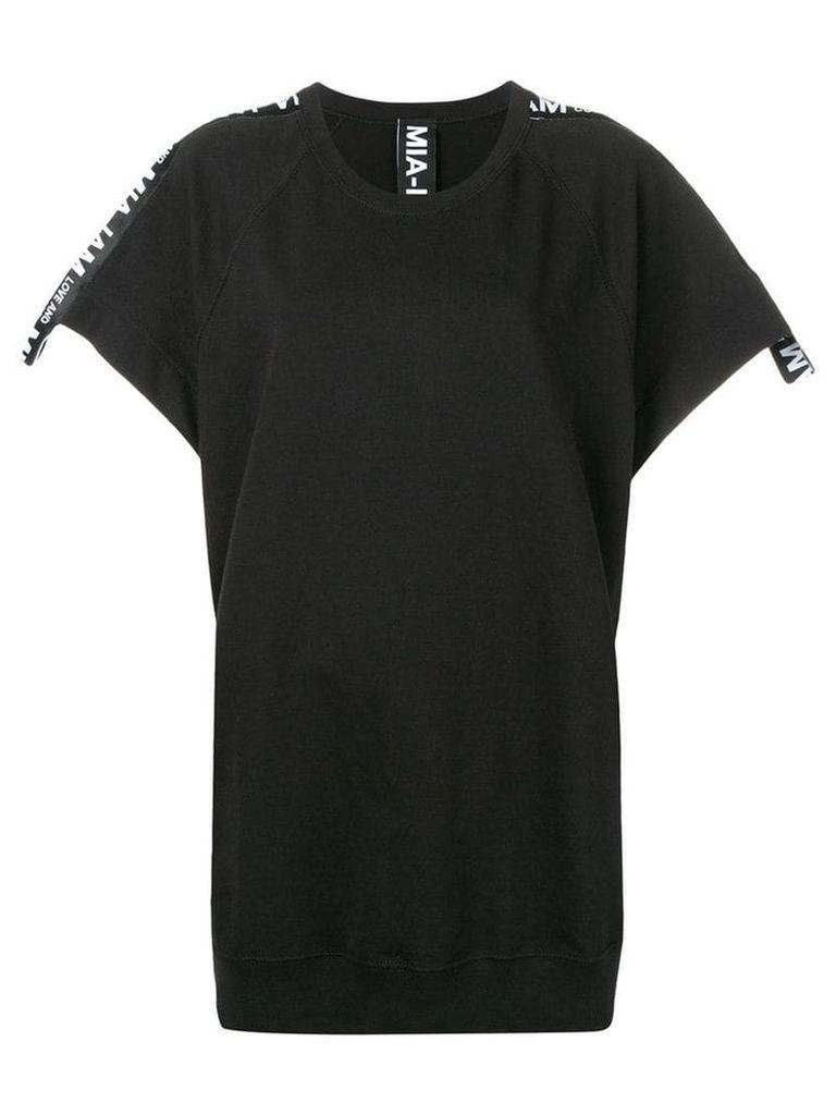 Mia-Iam oversized sweatshirt dress - Black