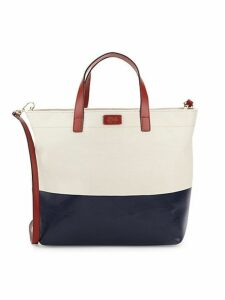 Large Margaret Colorblock Canvas Tote