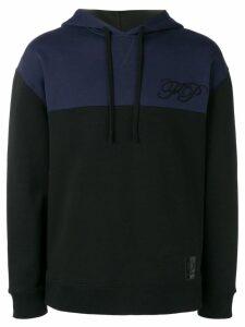 Raf Simons X Fred Perry two tone hoodie - Black