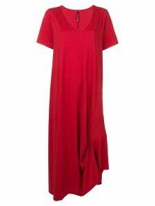 Pierantoniogaspari ruched detail T-shirt dress - Red