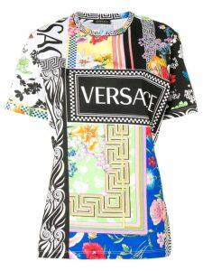 Versace mix print T-shirt - Black