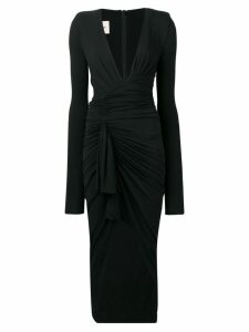 Alexandre Vauthier ruched cocktail dress - Black