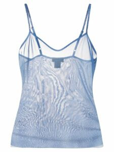 Avant Toi sheer vest top - Blue