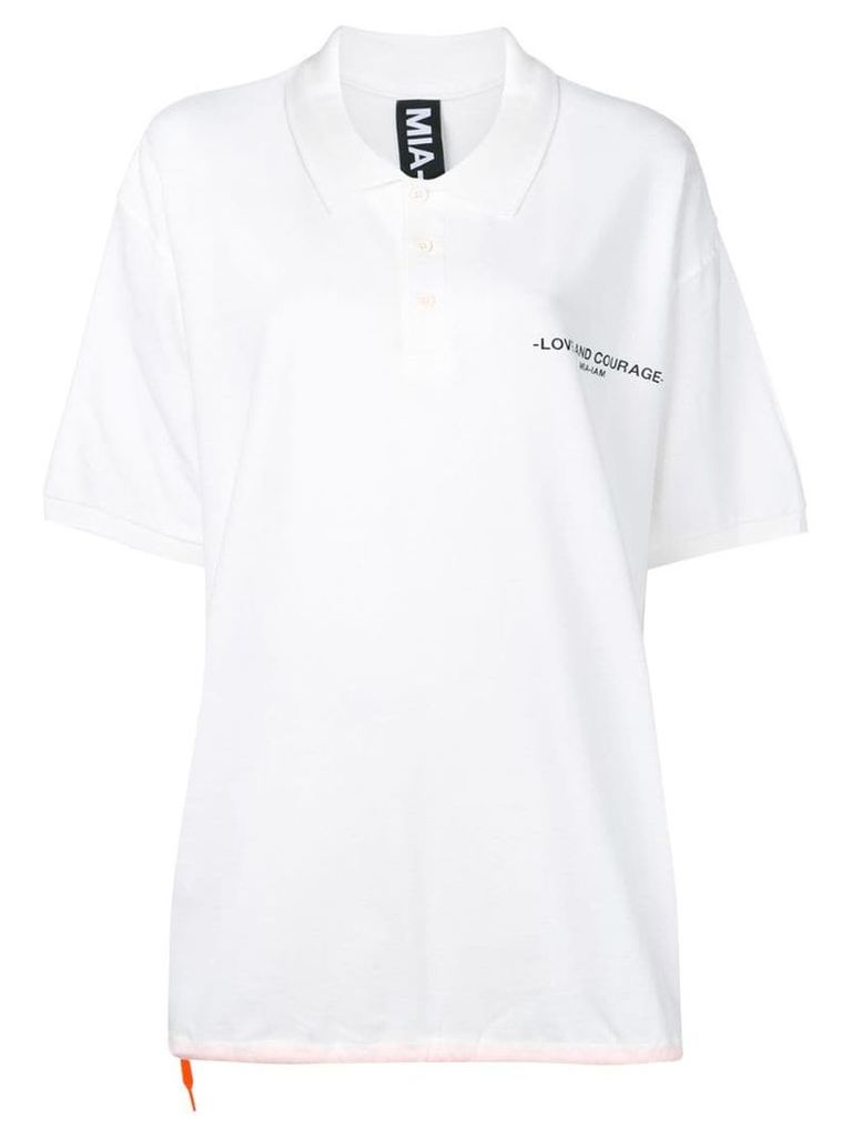 Mia-Iam Daddy oversized polo shirt - White