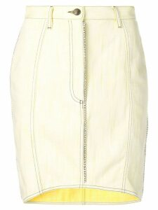 Marco De Vincenzo crystal trim denim skirt - Yellow