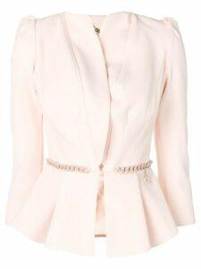 Elisabetta Franchi belted blazer jacket - Pink