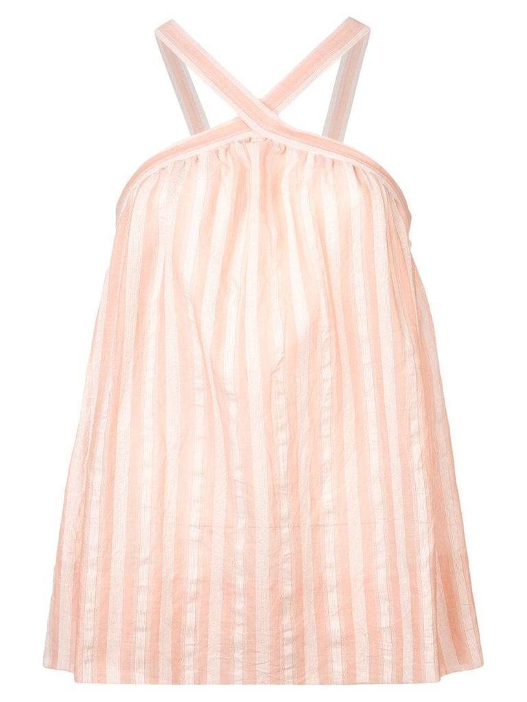 Lemlem Nefasi criss-cross strap top - Pink