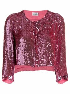 P.A.R.O.S.H. sequin cropped jacket - Pink