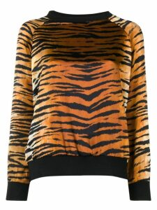 Alexandre Vauthier tiger printed sweatshirt - Brown