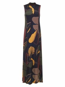 Osklen long printed dress - Green