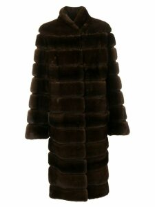 Liska Alfie long fur coat - Brown