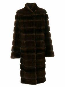 Liska Alfie long fur coat - Brown