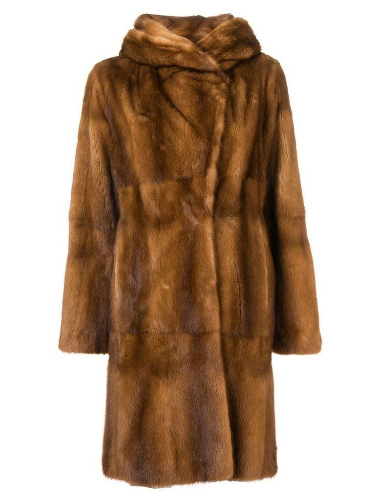 Liska Zen midi fur coat - Brown