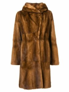 Liska Zen midi fur coat - Brown