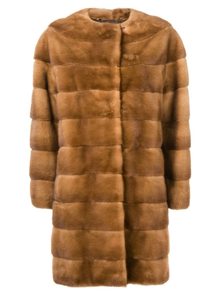 Liska Luce midi fur coat - Brown