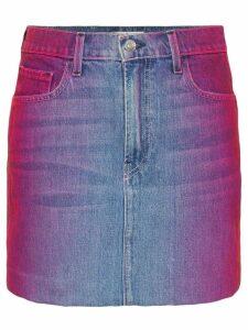 Jordache rainbow wash denim mini skirt - MULTICOLOURED