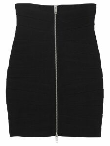 Burberry Stretch Zip-front Bandage Skirt - Black