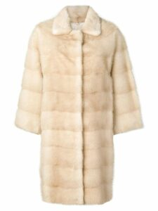 Liska oversized single-breasted coat - Neutrals