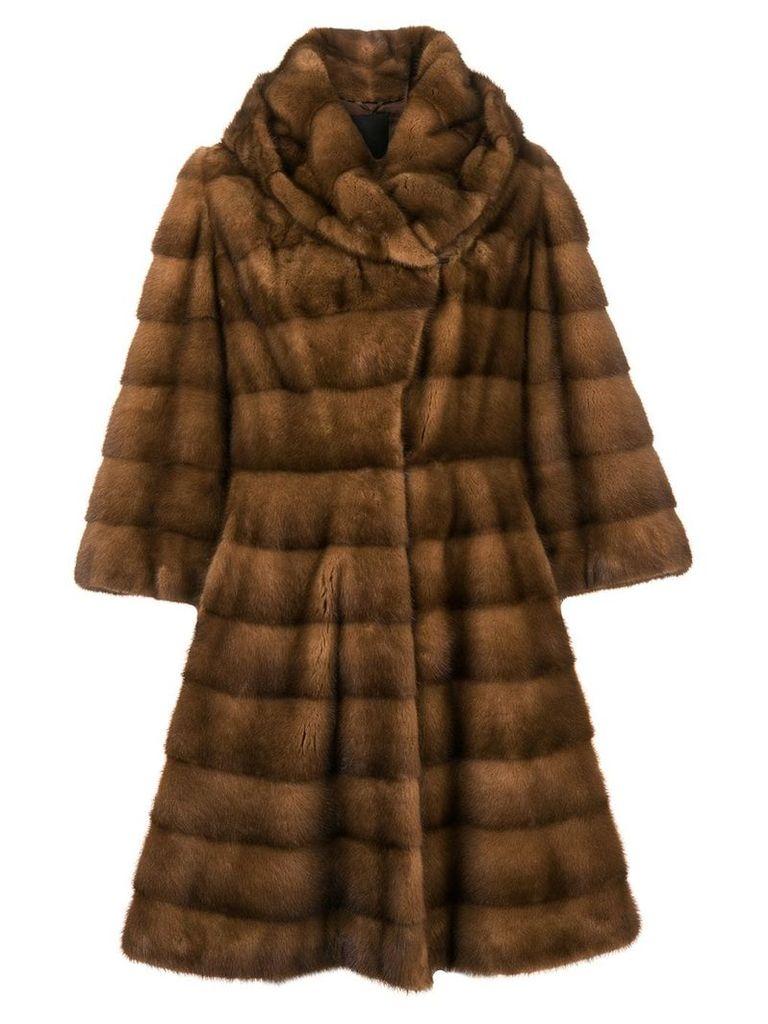 Liska Charlize long fur coat - Brown