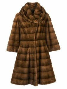 Liska Charlize long fur coat - Brown