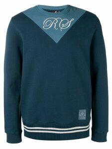 Raf Simons X Fred Perry two tone sweatshirt - Blue