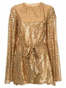 Caroline Constas sequinned mini dress - Gold