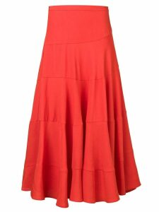 Isa Arfen Twirl midi skirt - Orange