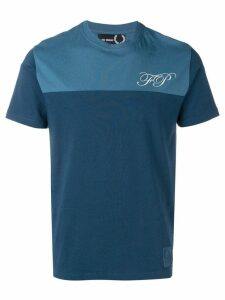 Raf Simons X Fred Perry two tone T-shirt - Blue