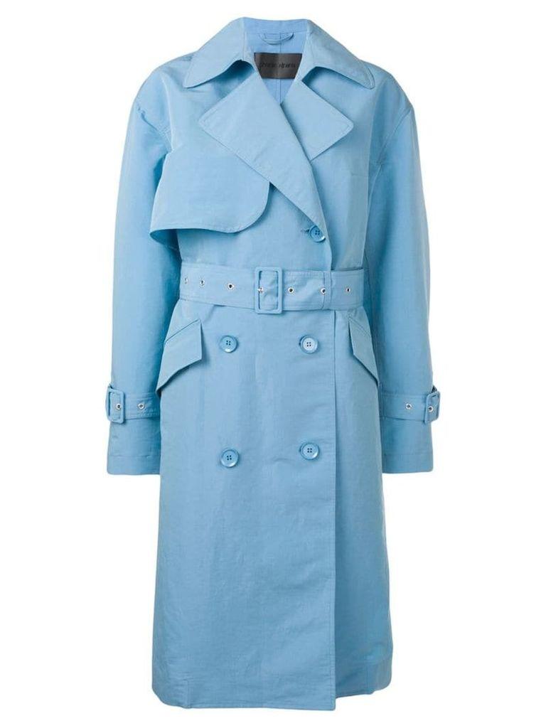 Christian Wijnants Chika trench coat - Blue