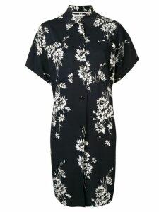 McQ Alexander McQueen floral oversize shirt-dress - Black