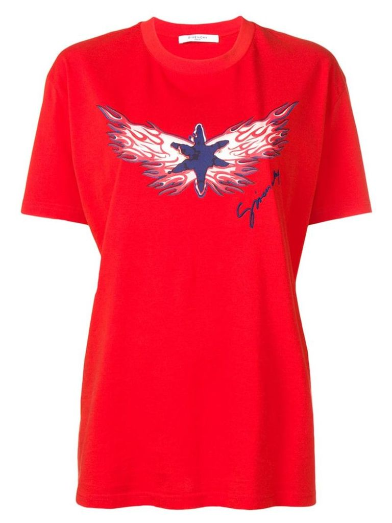 Givenchy Star Flame printed T-shirt - Red